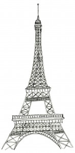 Printable Eiffel Tower Coloring Pages | ColoringMe.com