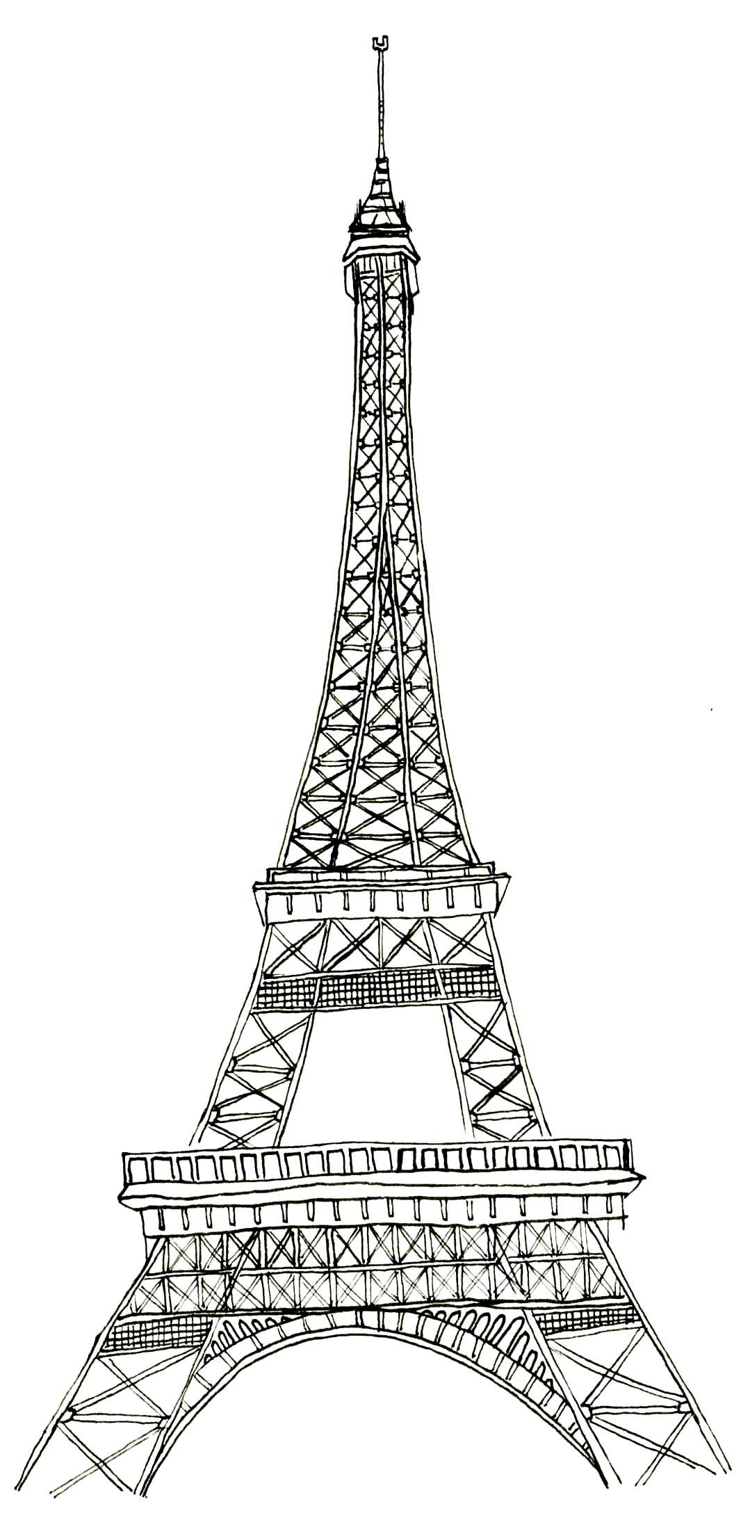 Uncategorized Eiffel Tower Coloring Sheet printable eiffel tower coloring pages me free pages
