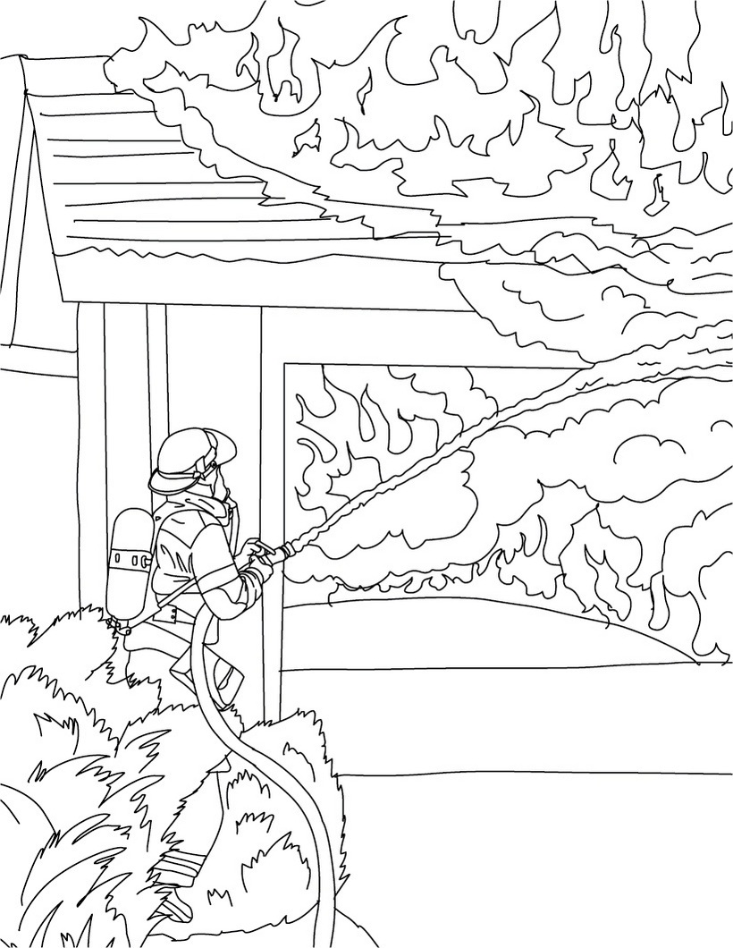 free printable firefighter coloring pages