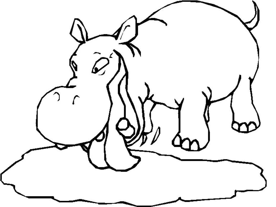 Free coloring pages hippopotamus - Free Printable Hippo Coloring Pages Copy