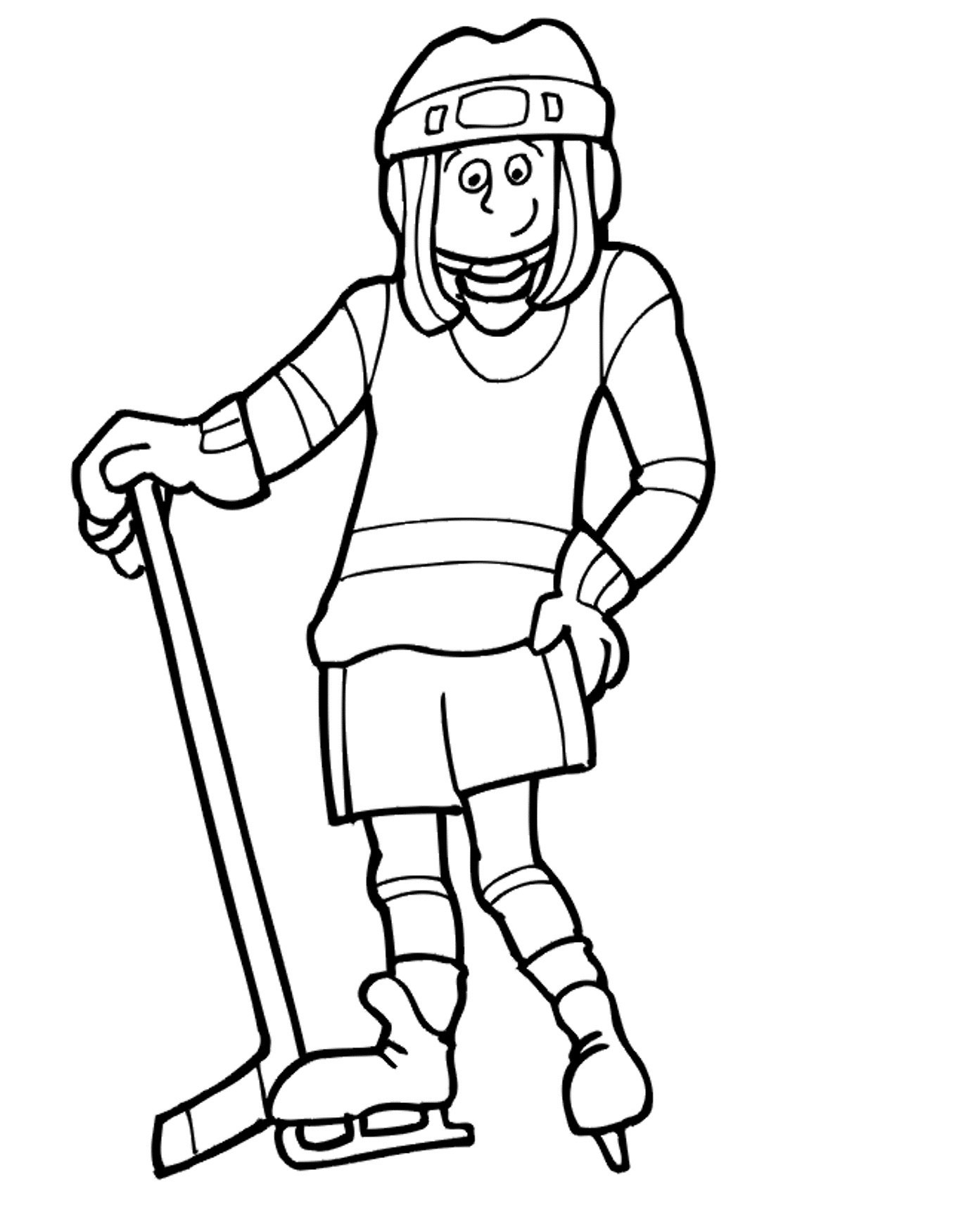 Pin free coloring hockey on pinterest for Hockey coloring pages printable