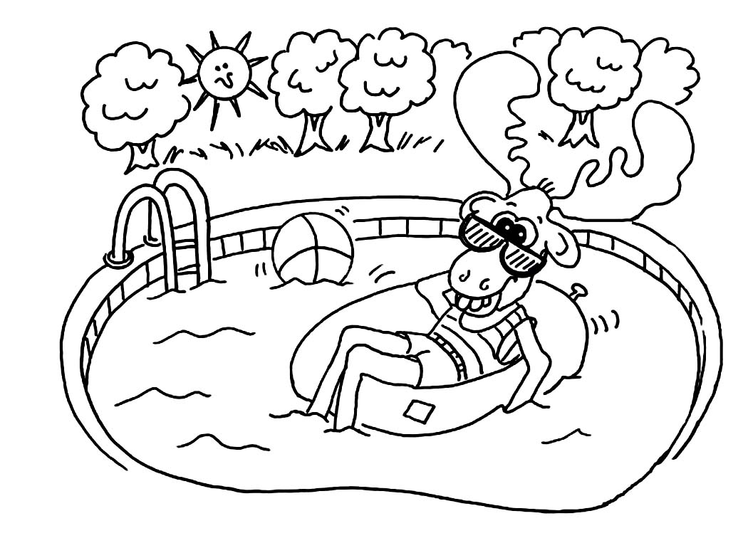 coloring pages swimming pool - photo#5