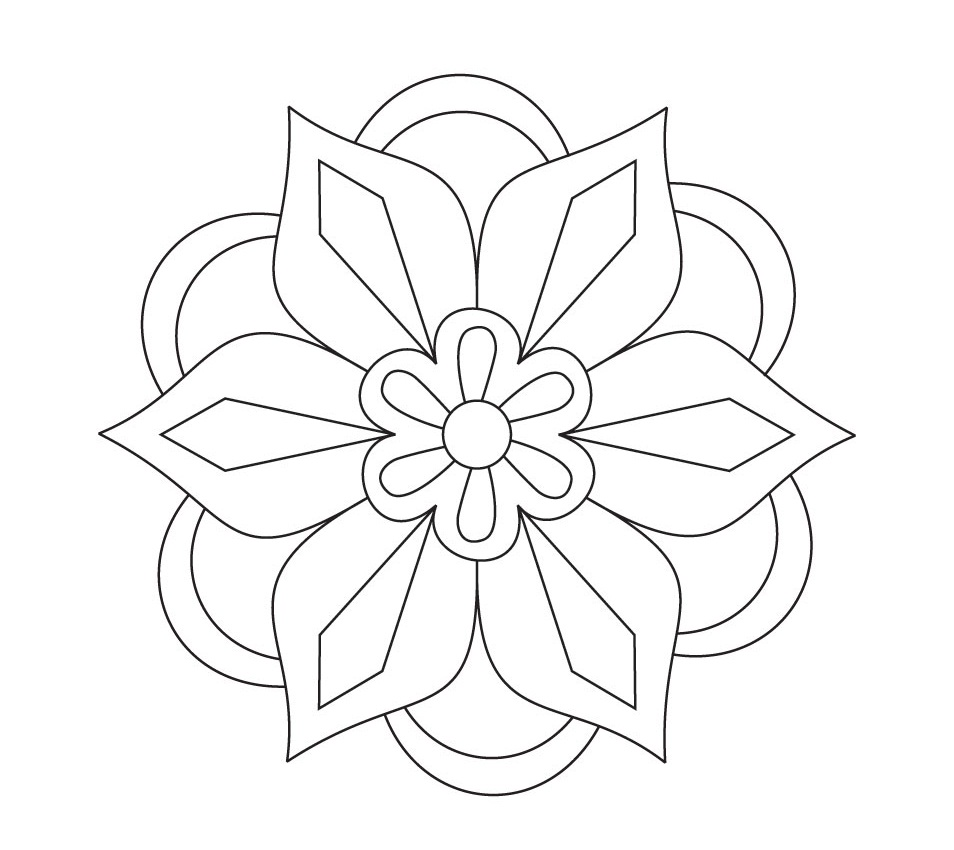 Printable Rangoli Coloring Pages Coloring Me Rangoli Designs Printable Coloring Pages