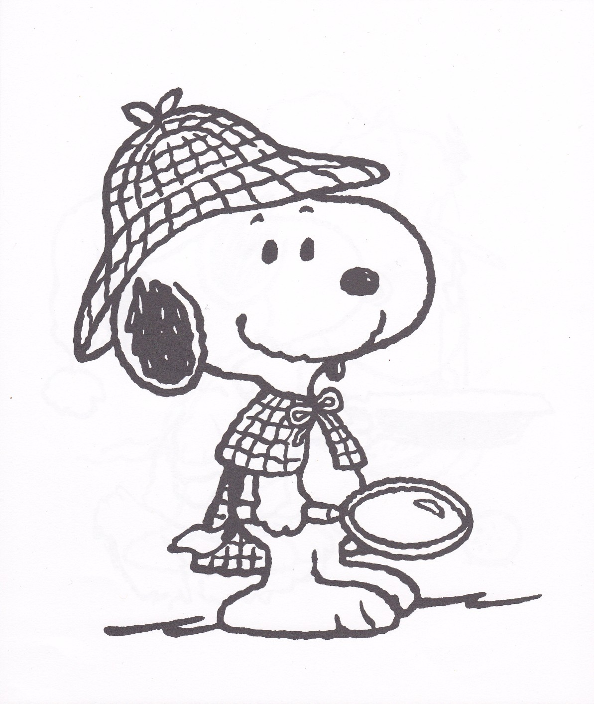photograph relating to Snoopy Printable identify Printable Snoopy Coloring Webpages