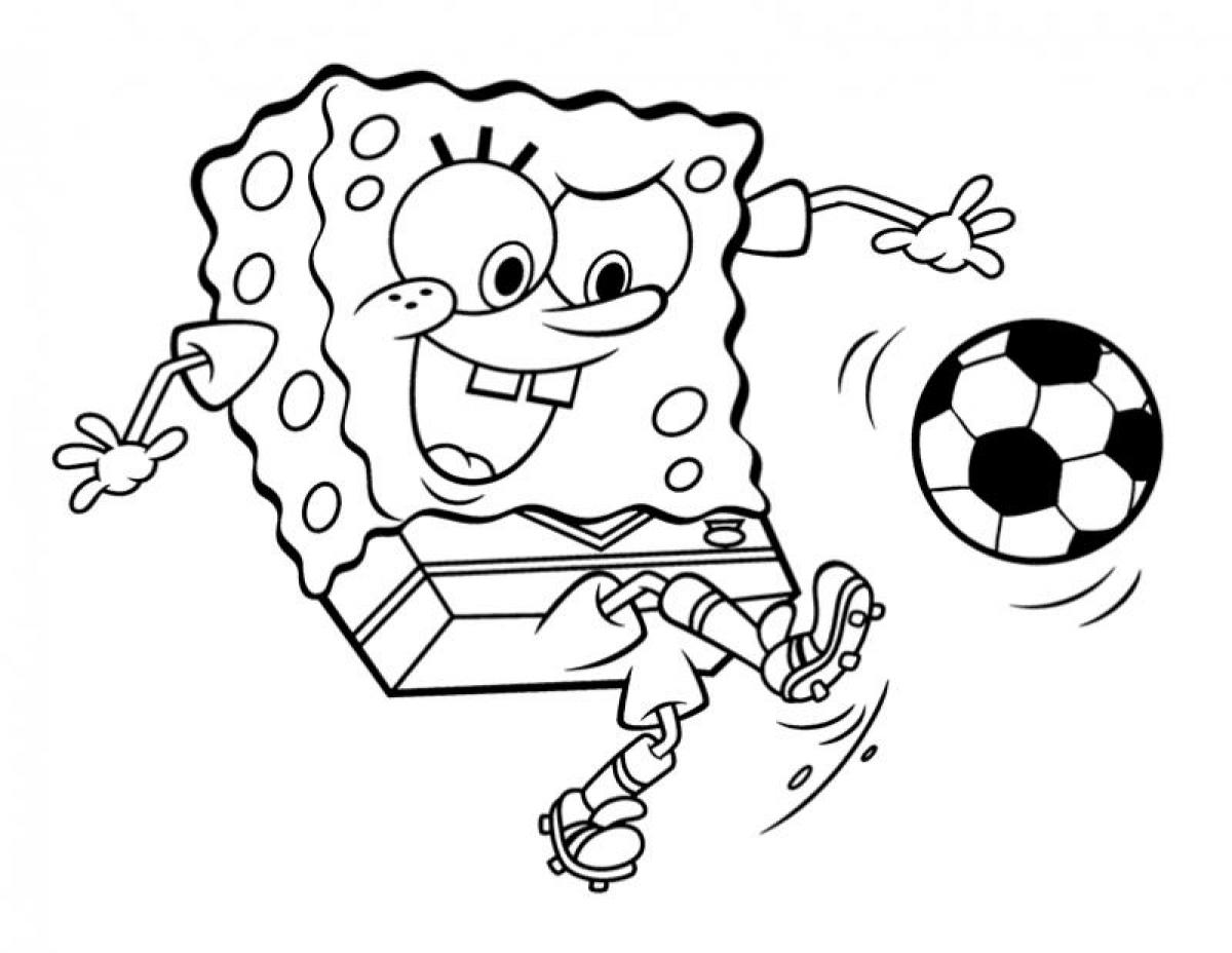 free coloring pages spongebob squarepants - square pants colouring pages