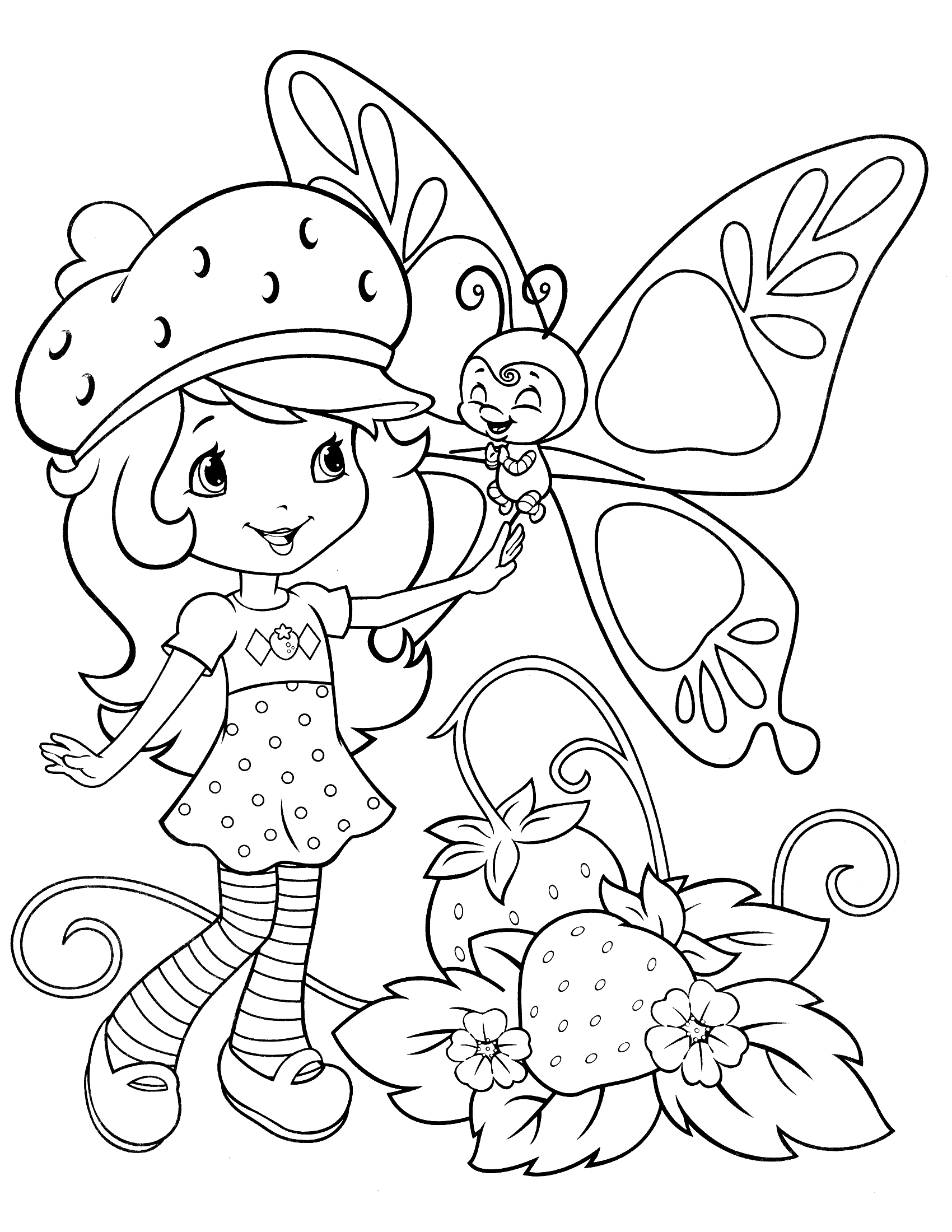 Printable Strawberry Shortcake Coloring Pages Coloring Me Coloring Pages To Print Free