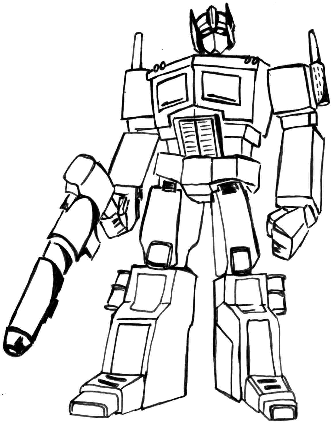 Coloring Pages Transformer Color Page printable transformer coloring pages me sheets