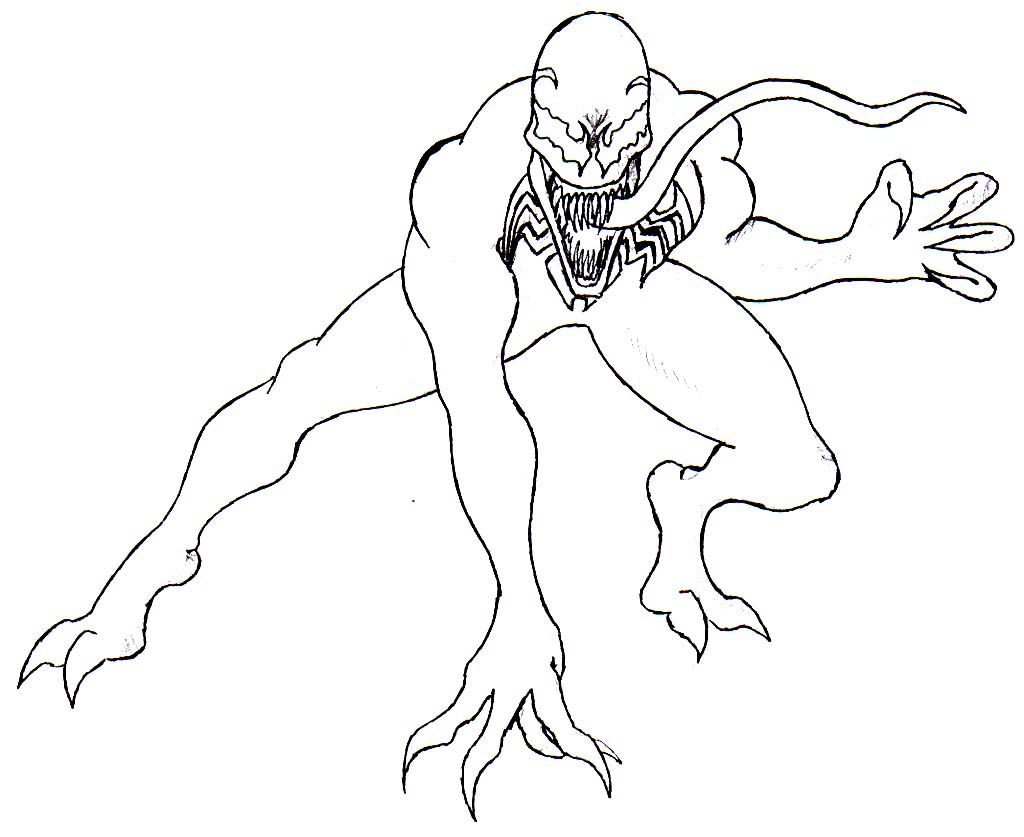 Printable Coloring Pages Of Venom