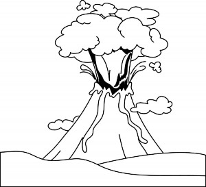 Volcano Coloring Pages Printable. Free Printable Volcano Coloring Pages  Me