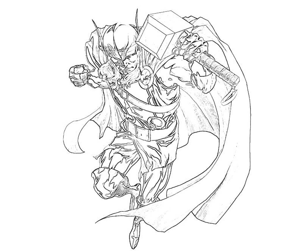 Marvel Thor Coloring Pages - Get Coloring Pages | 875x1050