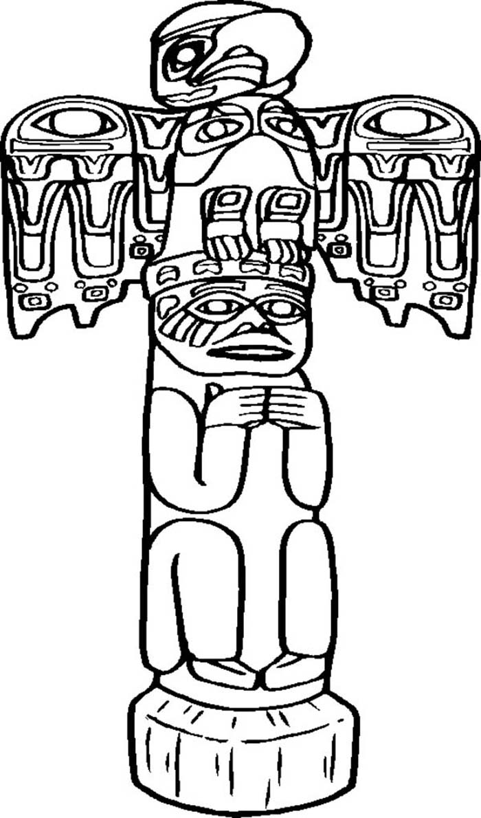 totem pole animal coloring pages - photo#16