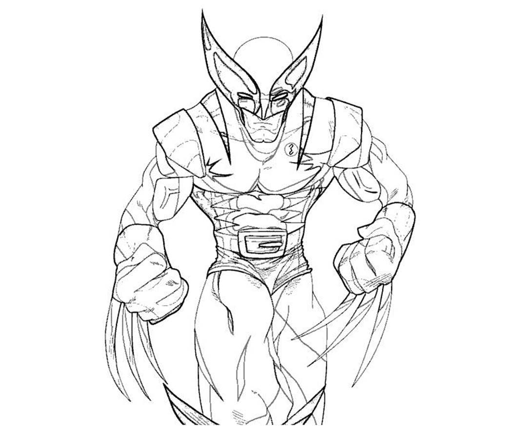 Free printable coloring pages wolverine coloring pages for Wolverine coloring pages free