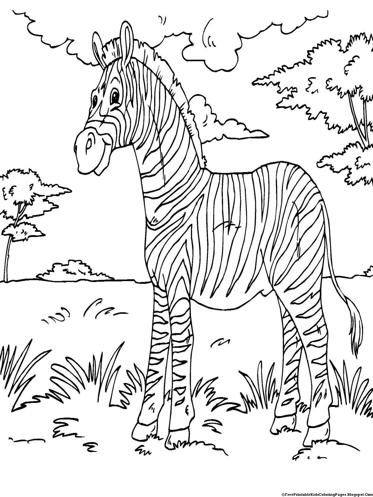 zebra coloring pages free - photo #45