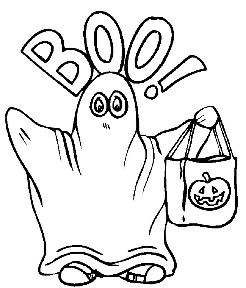 halloween ghosts coloring book pages - photo#33