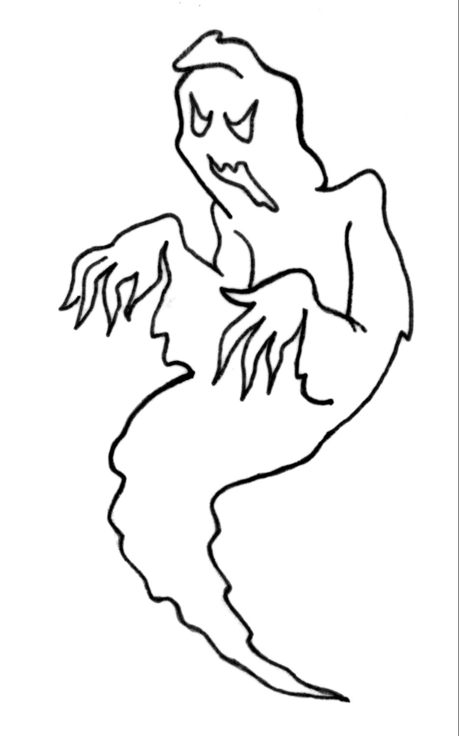 Free Halloween Ghosts Coloring Pages