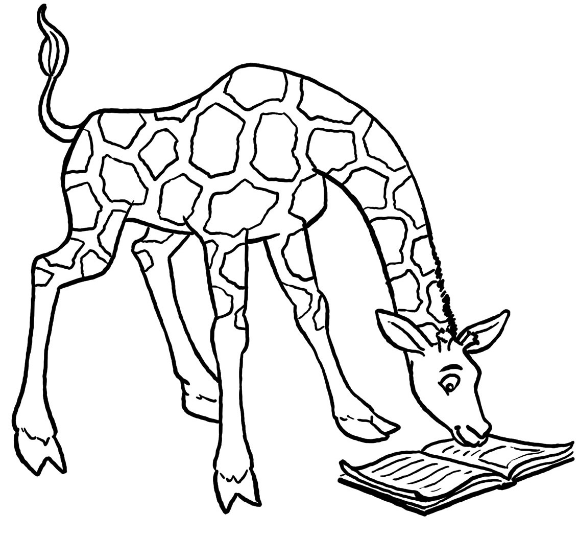 giraffe animal coloring pages