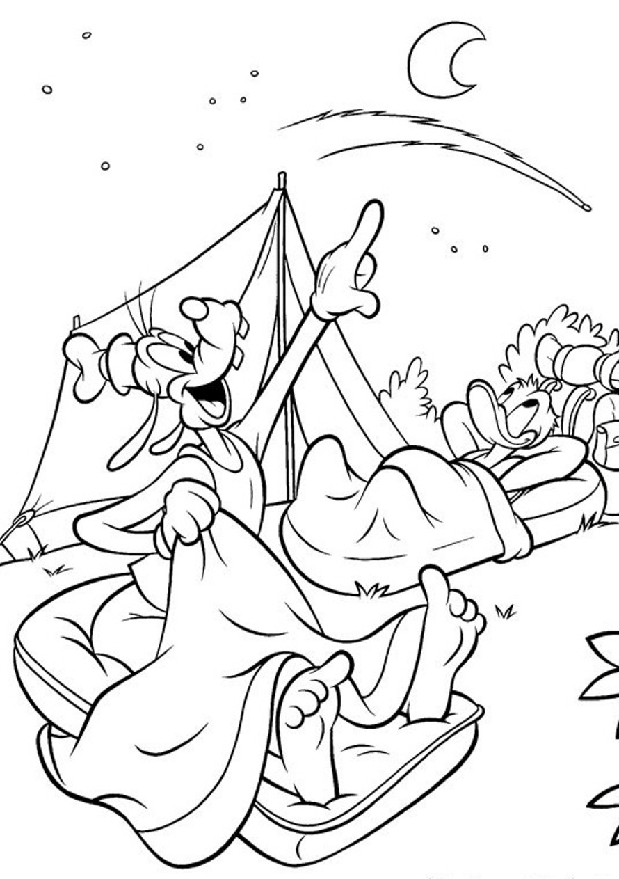 Free coloring pages goofy - Goofy Free Coloring Pages