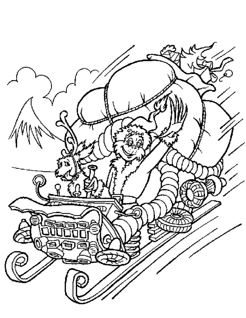 Ausmalbilder f r kinder malvorlagen und malbuch grinch for Coloring pages grinch