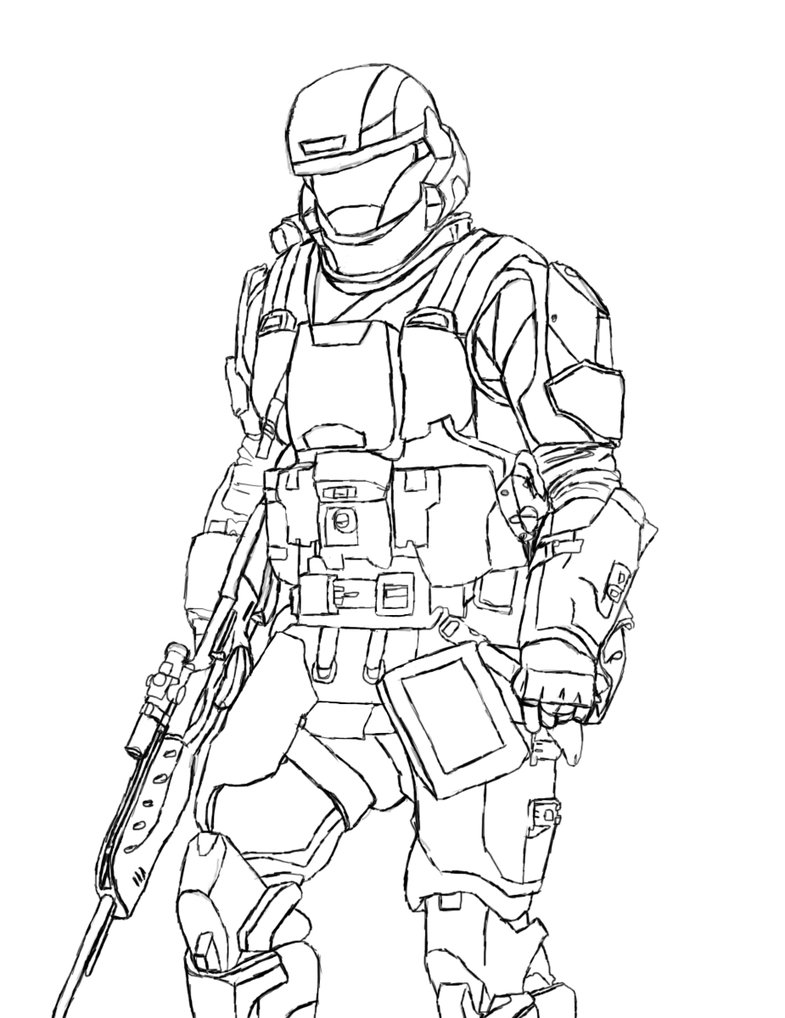 coloring pages halo 3 - photo #16