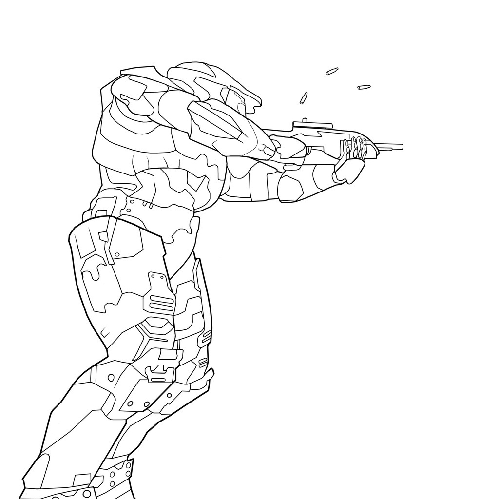 Printable Halo Coloring Pages