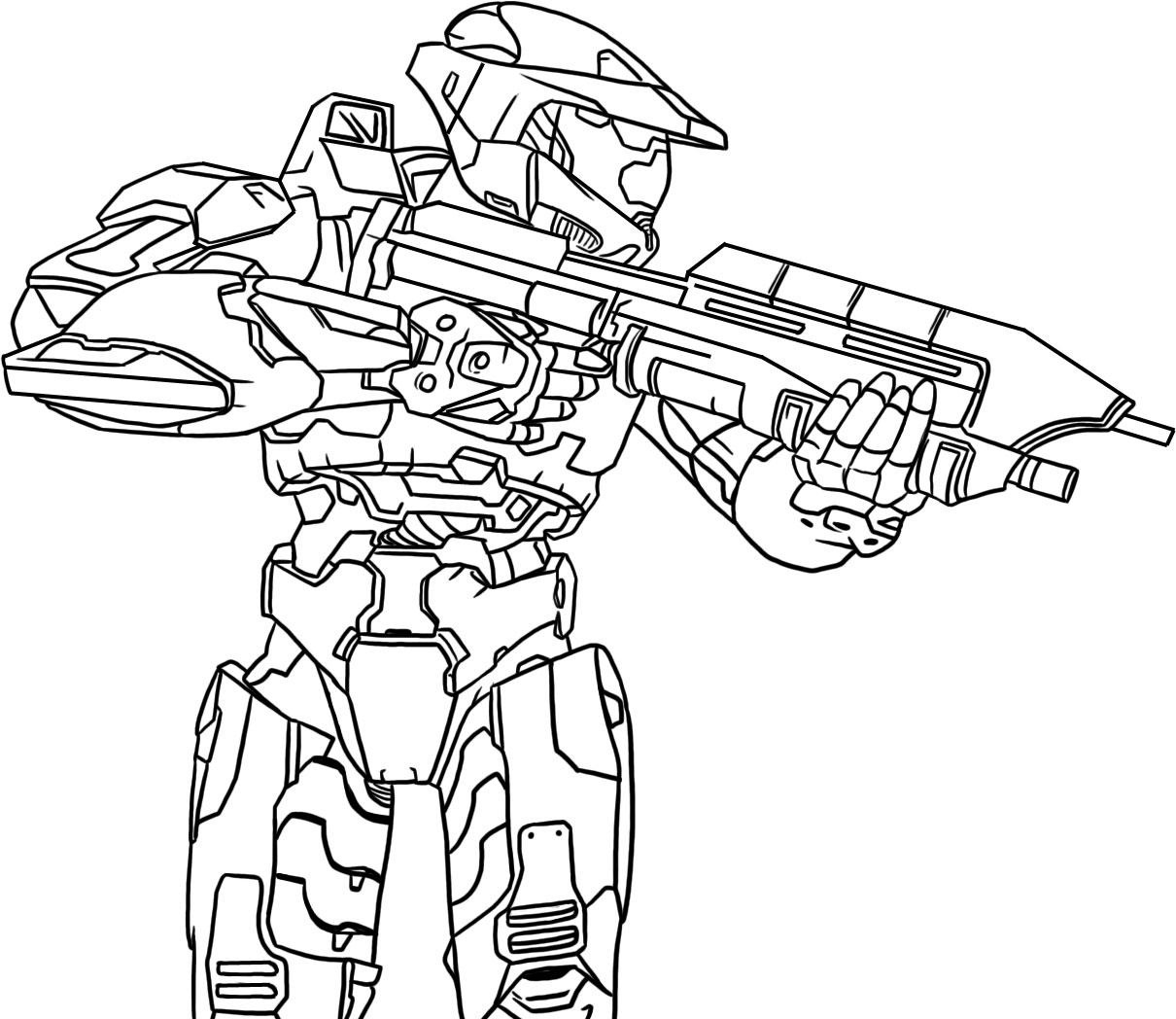 Soldiers Halo Colouring Pages
