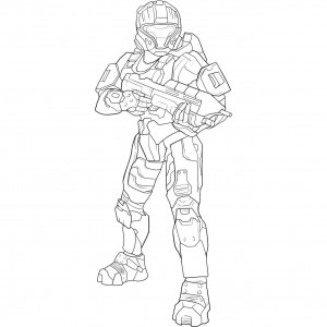 Halo Free Coloring Pages