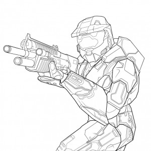 Halo Free Coloring Pages to Print