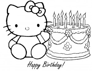 Printable Happy Birthday Coloring Pages | Coloring Me