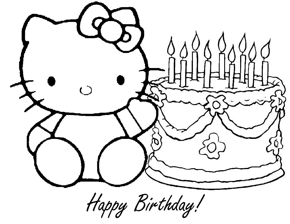 Printable Happy Birthday Coloring Pages Me