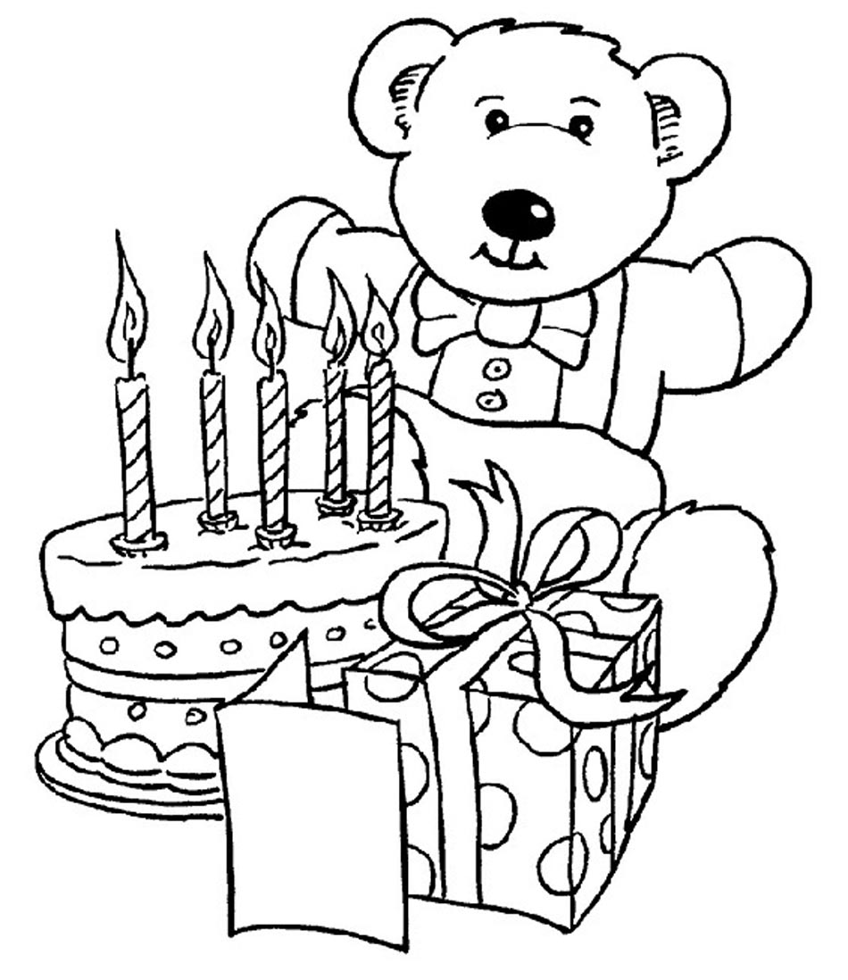 Coloring pages printable birthday