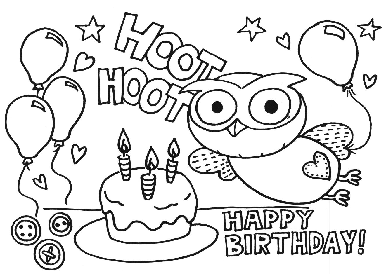 kid coloring pages for birthday - photo#7
