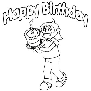 Happy Birthday Coloring Sheets to Print