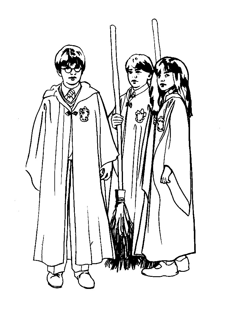 Harry potter coloring pages printable - Harry Potter Characters Coloring Pages
