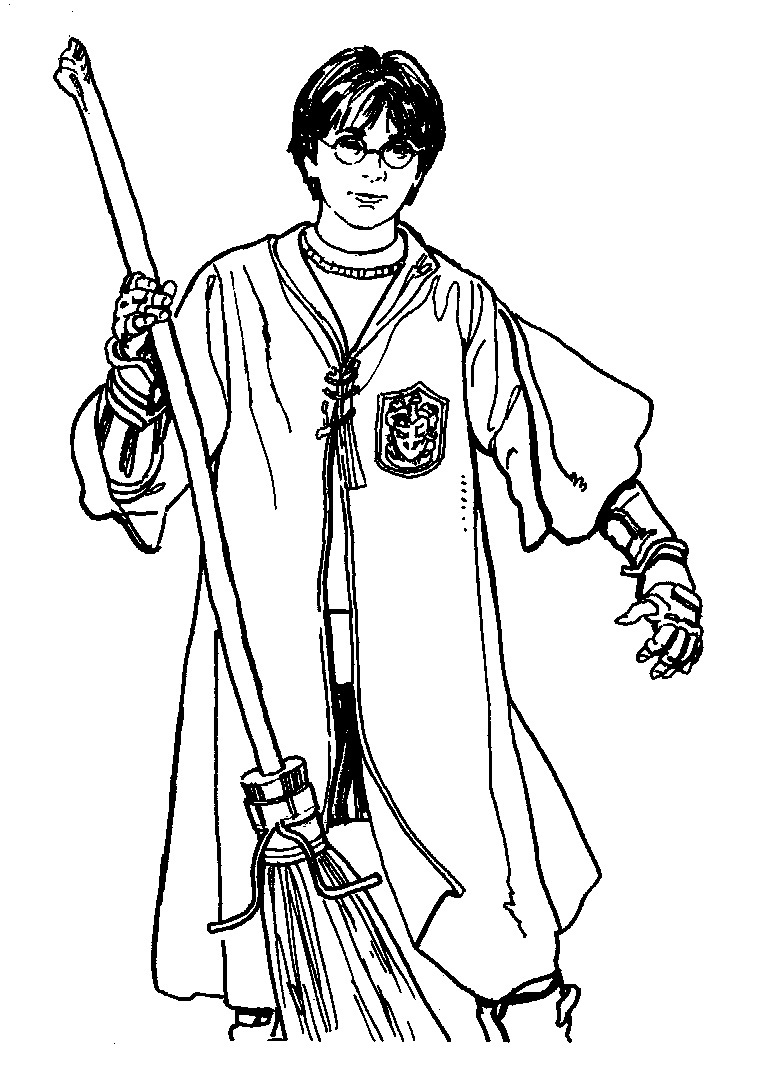 Free coloring pages harry potter - Harry Potter Coloring Page