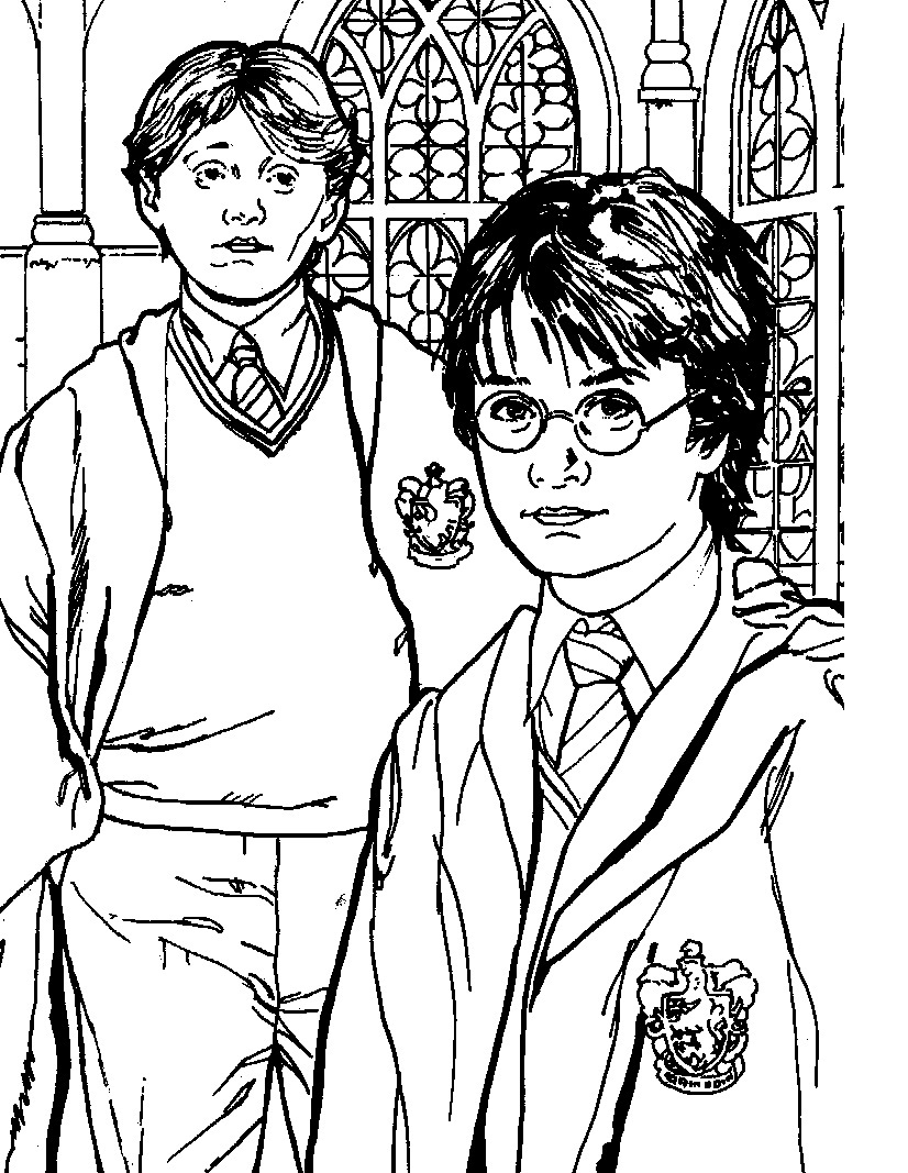 Printable Harry Potter Coloring Pages Coloring Me Harry Potter Coloring Pages To Print