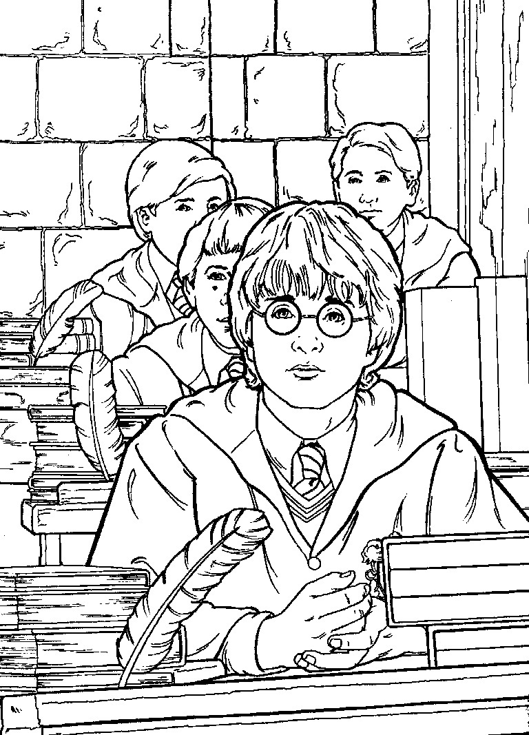 Harry potter coloring pages to color online - Printable Harry Potter Coloring Pages Coloring Me