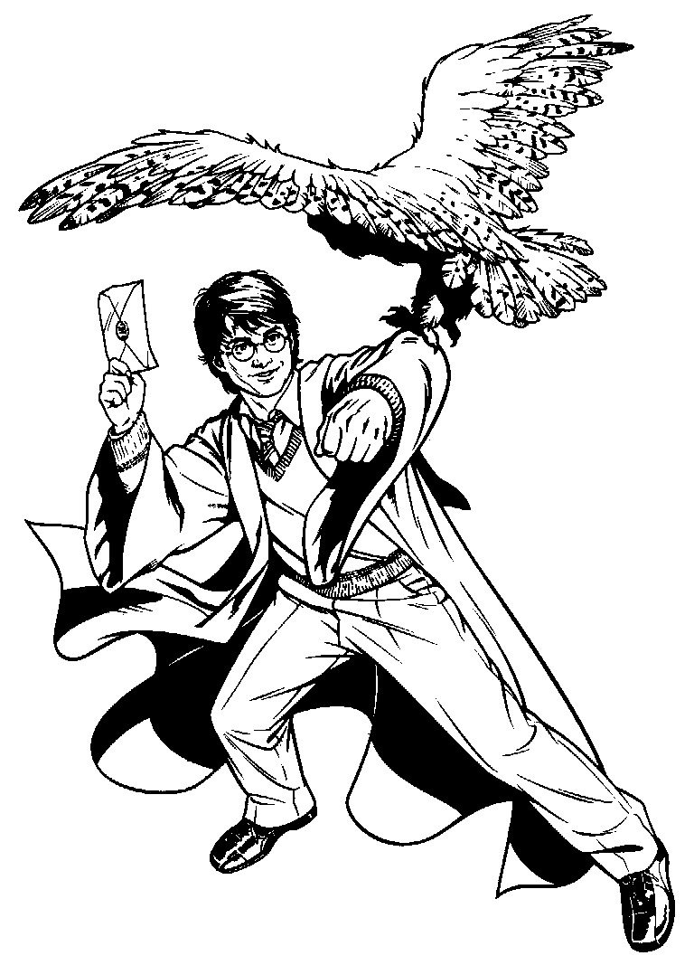 Harry Potter Free Coloring Pages
