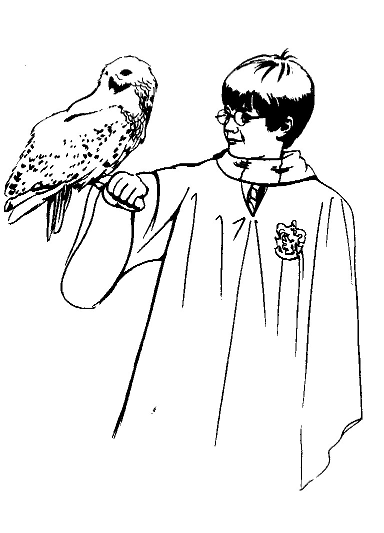 Printable Harry Potter Coloring Pages Coloring Me