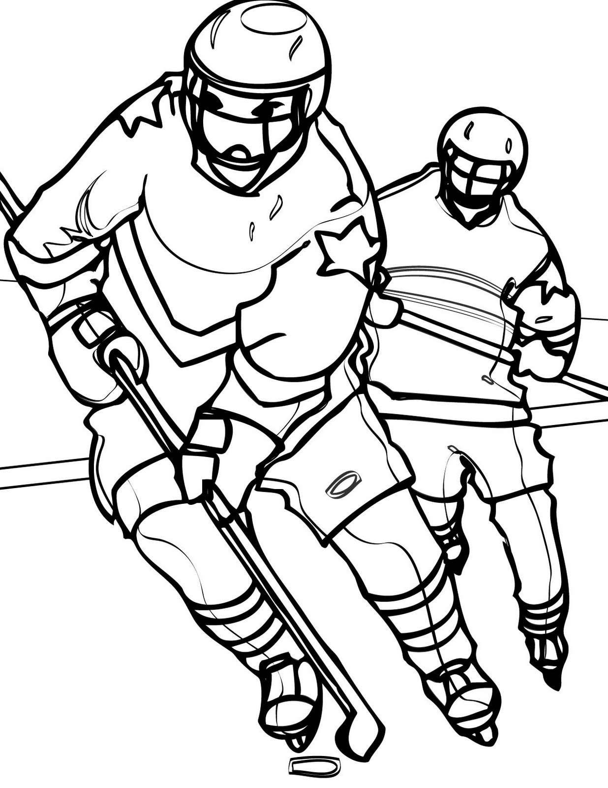 Hockey Coloring Sheets. Coloring Pages of Hockey