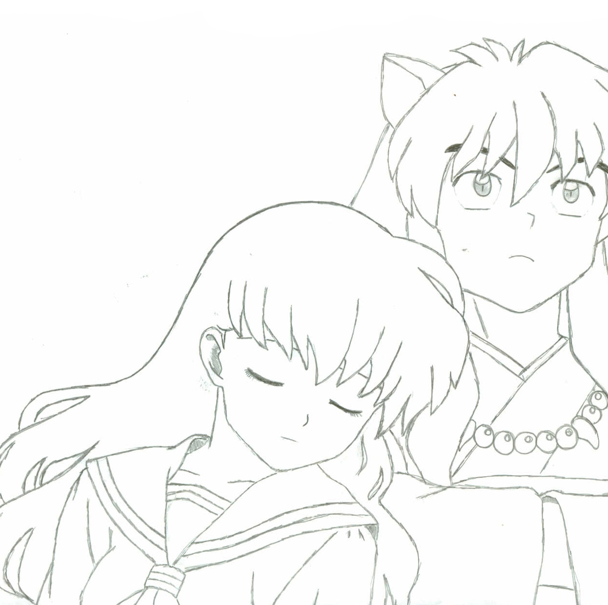 Free Coloring Pages Of Human Inuyasha 19548 | Coloring pages, Free ... | 1248x1254