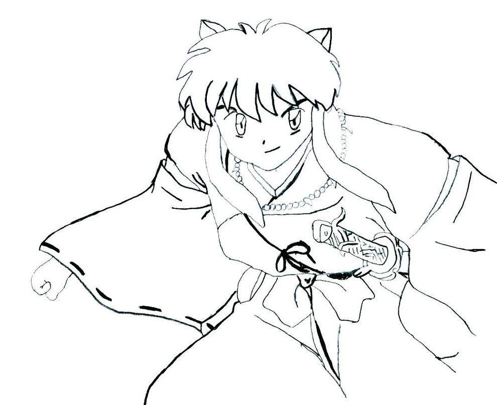 Free Printable Inuyasha Coloring Pages For Kids | Cartoon coloring ... | 807x990