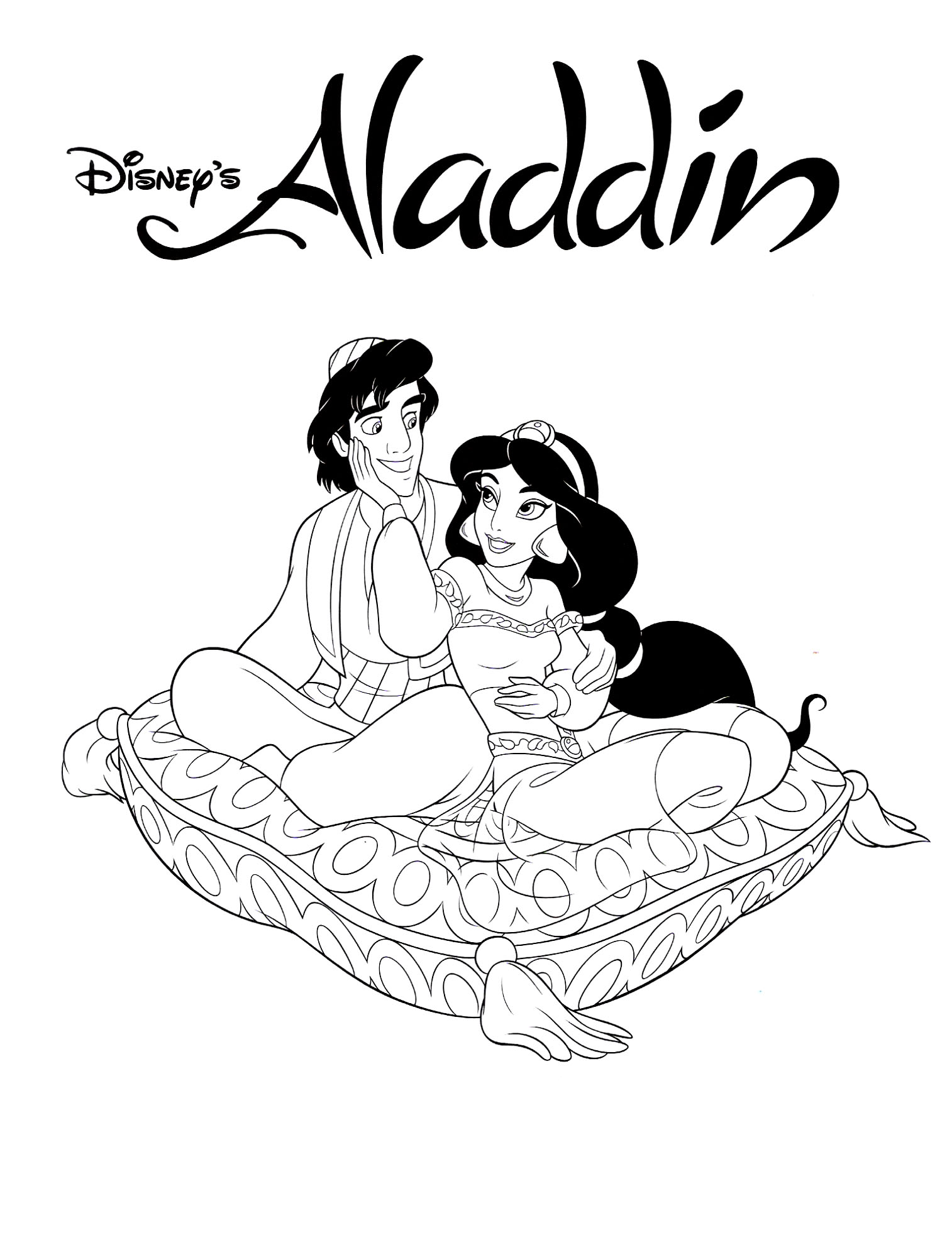 Princess jasmine colouring pages to print - Pr Princess Jasmine Coloring Pages Free Printable Aladdin Coloring Pages Me