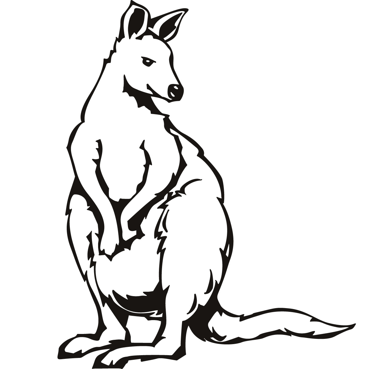 kangroo coloring pages - photo#22