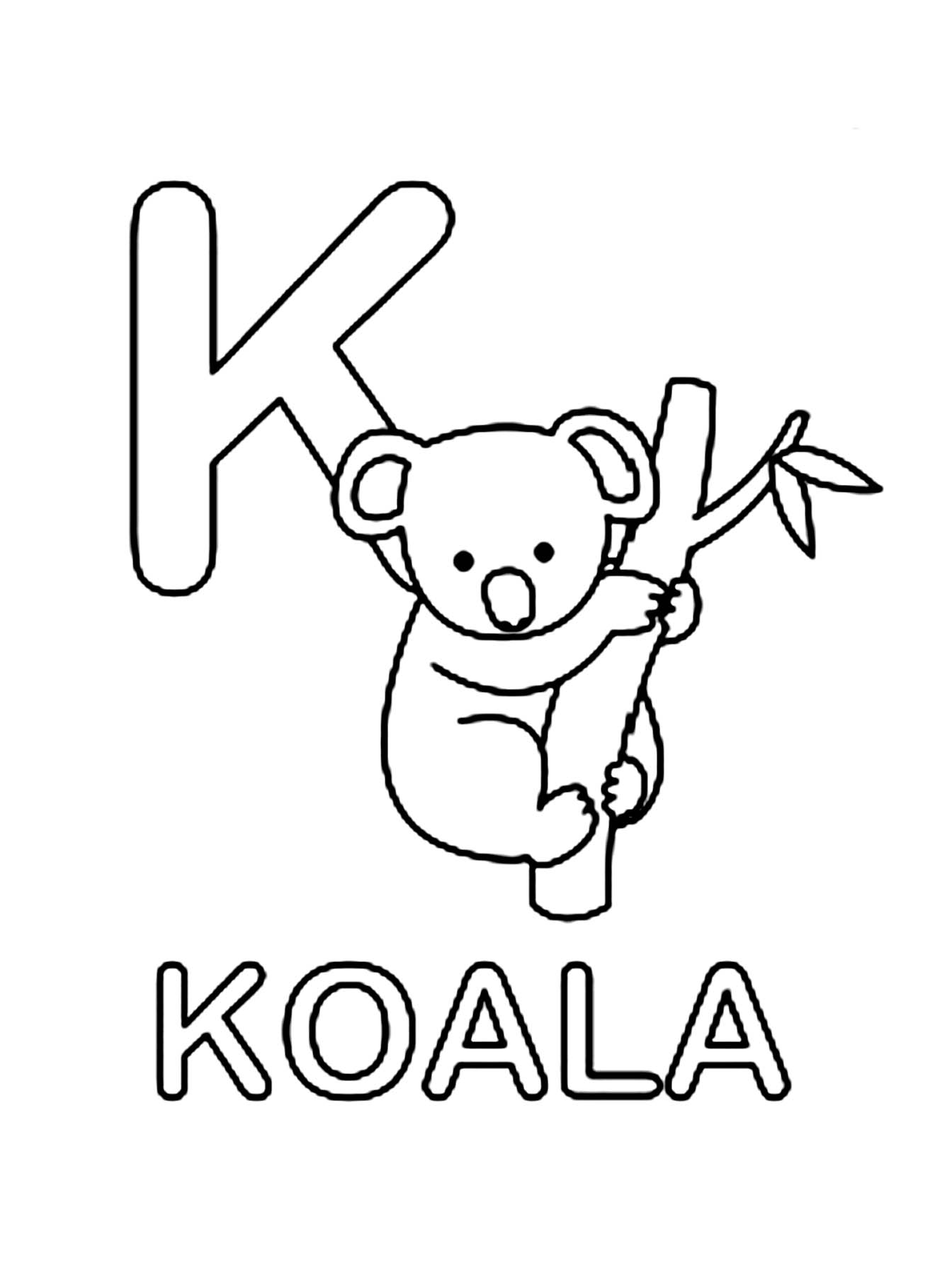 Printable Koala Coloring Pages