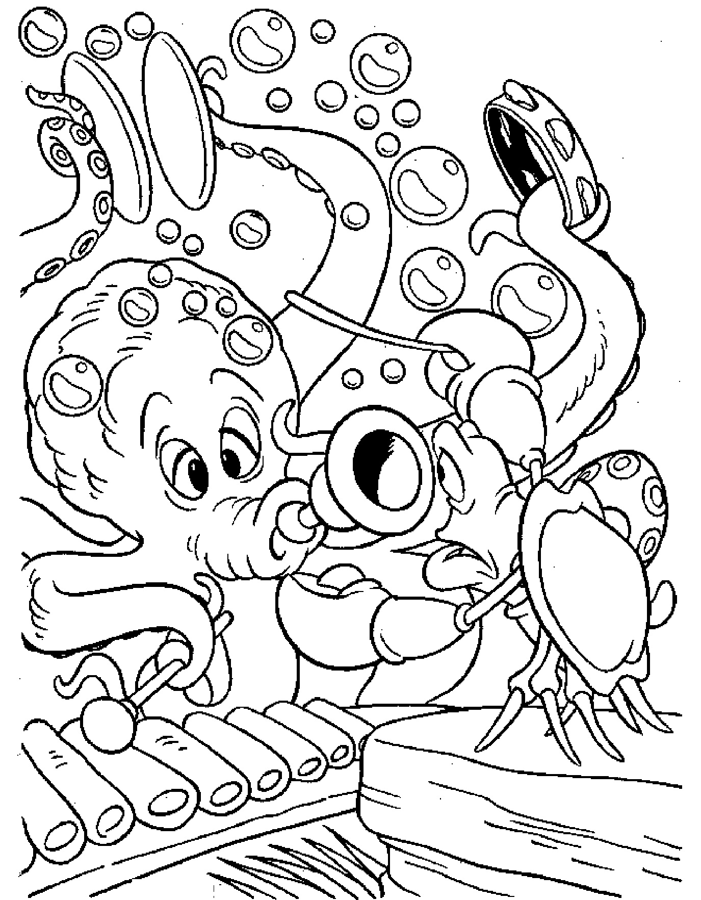 Free disney coloring pages little mermaid - Little Mermaid Characters Coloring Pages