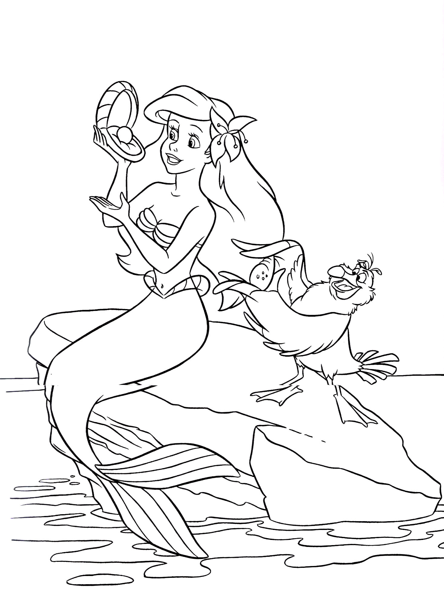 Coloring pages printable mermaid