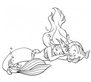 Little Mermaid Free Coloring Pages
