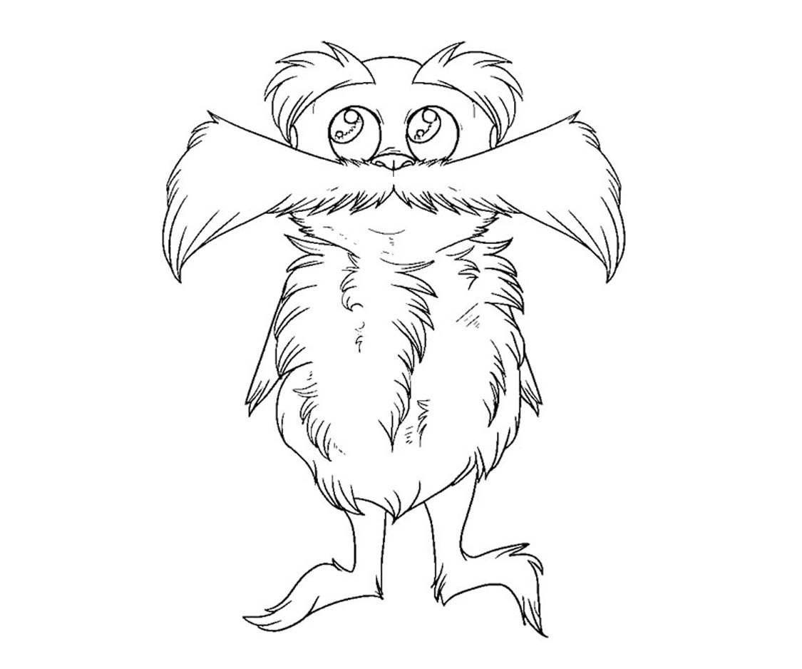 Free coloring pages of lorax bear