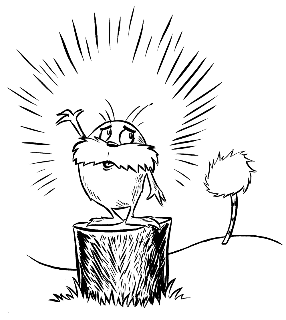 lorax coloring book pages - photo#33