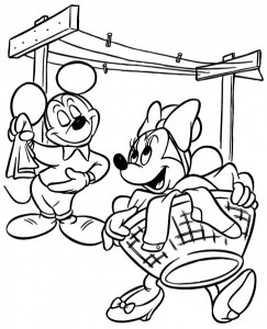Mickey and Minnie Mouse Coloring Pages to Print